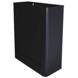 Papelera metálica de pared sie 98 de 36x15x46 cm. 25 litros. color negro.