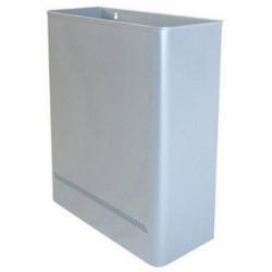 Papelera metálica de pared sie 98 de 36x15x46 cm. 25 litros. color plata.