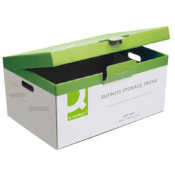 Contenedor para 5 archivos definitivos en cartón Q-Connect de montaje manual de medida interior 374x540x245 mm.