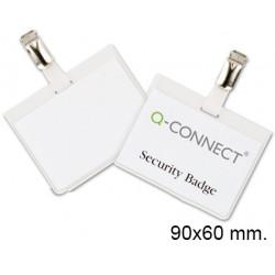 Identificador personal de seguridad con pinza liderpapel en p.v.c. de 90x60 mm.
