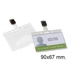 Identificador personal de seguridad con pinza liderpapel en p.v.c. de 90x67 mm.