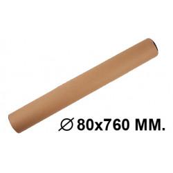 Tubo portadocumentos en cartón con tapas de plástico fabrisa en formato Ø 80x760 mm. color marrón.