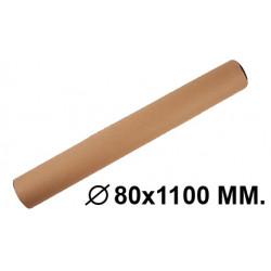 Tubo portadocumentos en cartón con tapas de plástico fabrisa en formato Ø 80x1100 mm. color marrón.