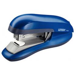 Grapadora de sobremesa rapid f30 flat clinch en color azul.