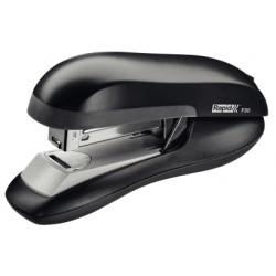 Grapadora de sobremesa rapid f30 flat clinch en color negro.