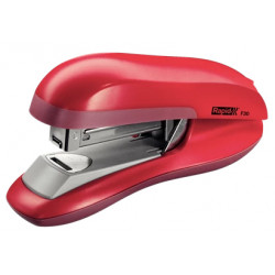 Grapadora de sobremesa rapid f30 flat clinch en color rojo.