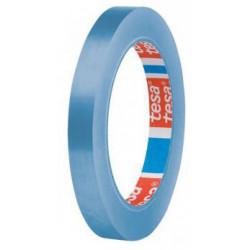 Cinta adhesiva para precintadoras de bolsas tesa en pvc 4204 de 12 mm. x 66 mts. en color azul.