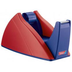 Portarrollos de sobremesa tesa easy cut 25 mm. x 66 mts. en color rojo/azul.