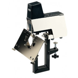 Grapadora eléctrica rapid 106e en color blanco/negro.
