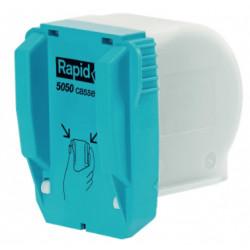 Grapas para grapadora eléctrica rapid 5050e flat clinch, cartucho de 5.000 uds.