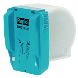 Grapas para grapadora eléctrica rapid 5050e flat clinch, pack de 3 cartuchos de 5.000 uds.