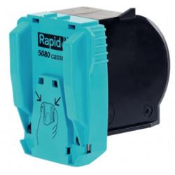 Grapas para grapadora eléctrica rapid 5080e flat clinch, cartucho de 5.000 uds.