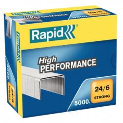 Grapas rapid 24 strong galvanizadas 24/6, caja de 5.000 uds.