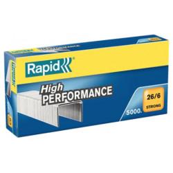 Grapas rapid 26 strong galvanizadas 26/6, caja de 5.000 uds.