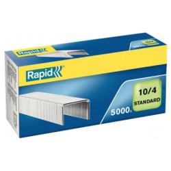 Grapas rapid 10 standard galvanizadas 10/4, caja de 5.000 uds.