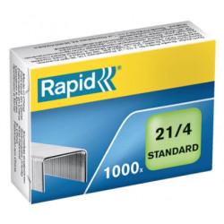 Grapas rapid 21 standard galvanizadas 21/4, caja de 1.000 uds.