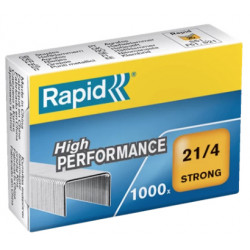 Grapas rapid 21 strong galvanizadas 21/4, caja de 1.000 uds.