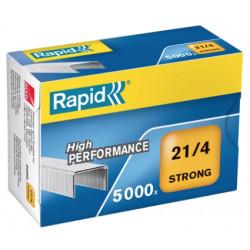 Grapas rapid 21 strong galvanizadas 21/4, caja de 5.000 uds.