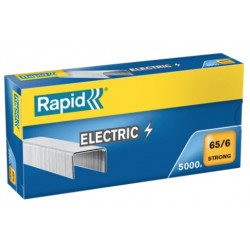 Grapas rapid 65 strong galvanizadas 65/6, caja de 5.000 uds.
