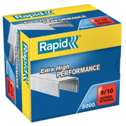 Grapas rapid 9 super strong galvanizadas 9/10, caja de 5.000 uds.