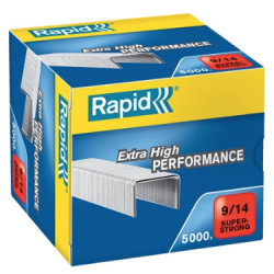 Grapas rapid 9 super strong galvanizadas 9/14, caja de 5.000 uds.