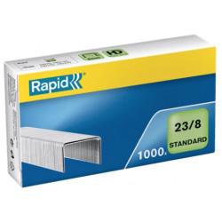 Grapas rapid 23 standard galvanizadas 23/8, caja de 1.000 uds.