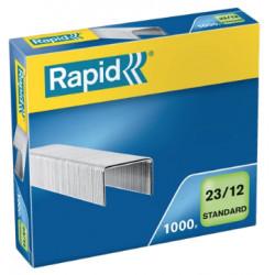 Grapas rapid 23 standard galvanizadas 23/12, caja de 1.000 uds.