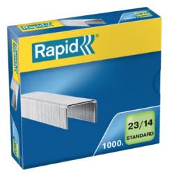 Grapas rapid 23 standard galvanizadas 23/14, caja de 1.000 uds.