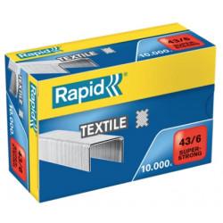 Grapas rapid 43 textil super strong galvanizadas 43/6, caja de 10.000 uds.