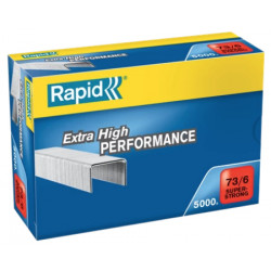 Grapas rapid 73 super strong galvanizadas 73/6, caja de 5.000 uds.