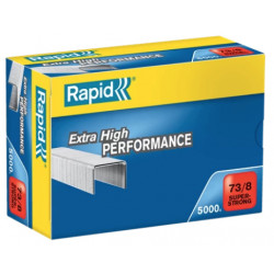 Grapas rapid 73 super strong galvanizadas 73/8, caja de 5.000 uds.