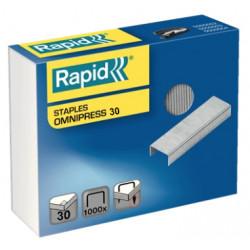 Grapas rapid omnipress 30 galvanizadas, caja de 1.000 uds.