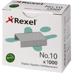 Grapas rexel nº 10 galvanizadas, caja de 1.000 uds.