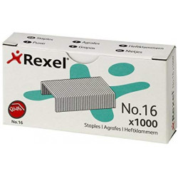 Grapas rexel 24/6 galvanizadas, caja de 1.000 uds.
