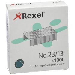 Grapas rexel 23 galvanizadas 23/13, caja de 1.000 uds.