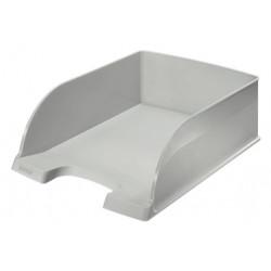 Bandeja portadocumentos leitz plus jumbo en color gris.
