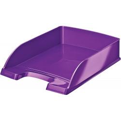 Bandeja portadocumentos leitz wow en color violeta metalizado.