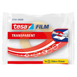 Cinta adhesiva transparente tesa film transparent de 15 mm. x 33 mts.