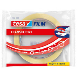 Cinta adhesiva transparente tesa film transparent de 19 mm. x 66 mts.