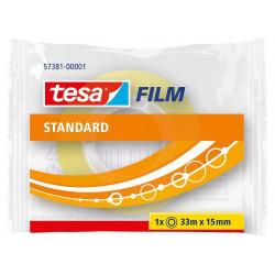 Cinta adhesiva transparente tesa film standard de 15 mm. x 33 mts.