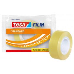 Cinta adhesiva transparente tesa film standard de 19 mm. x 33 mts.