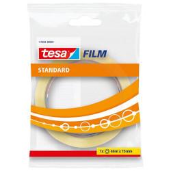 Cinta adhesiva transparente tesa film standard de 15 mm. x 66 mts.