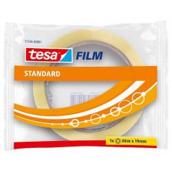 Cinta adhesiva transparente tesa film standard de 19 mm. x 66 mts.