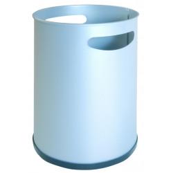 Papelera metálica con asas sie 101 de Ø 21,5x31,5 cm. 12 litros. color blanco.
