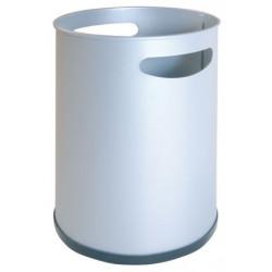 Papelera metálica con asas sie 111 de Ø 21,5x31,5 cm. 16 litros. color blanco.