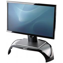 Soporte para monitor fellowes smart suites en color negro/blanco escarcha.