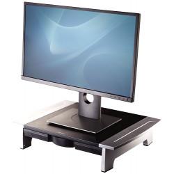 Soporte para monitor fellowes office suites en color negro/plata.