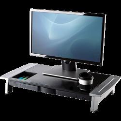 Soporte para monitor fellowes premium office suites en color negro/plata.