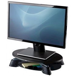 Soporte para monitor giratorio fellowes en color negro/plata.