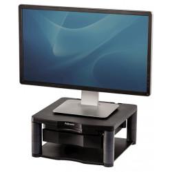 Soporte para monitor fellowes premium plus en color grafito.